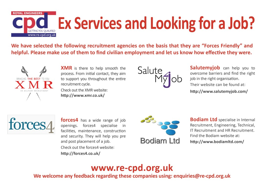 Ex Services and Looking for a Job?