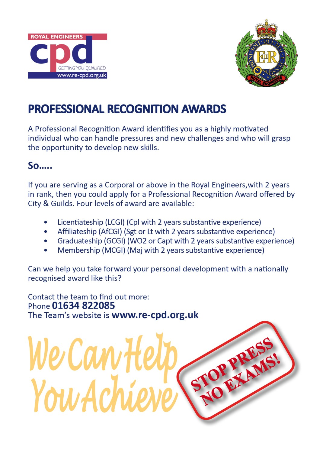 Professional Recognition Awards