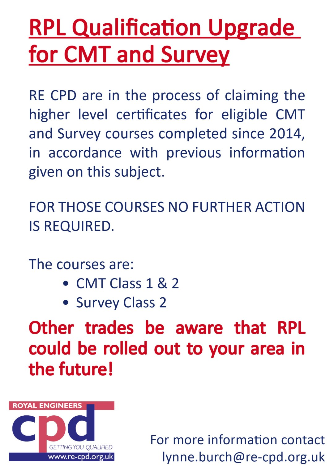 Latest Update for RPL Qualification
