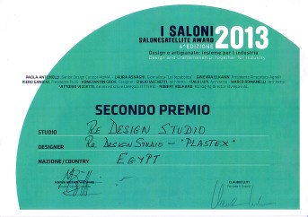 RE Design winner of 2nd Prize at SaloneSatellite