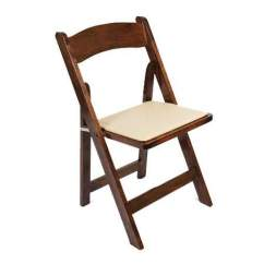 Folding Chairs For Rent Mainstays Desk Chair Wooden Seating And Rentals Any Event Walnut W Tan Seat