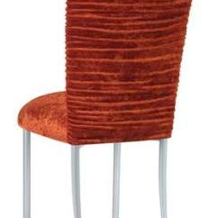 Crushed Velvet Chair Office Very Chloe Paprika Cover On Silver Legs Rentals