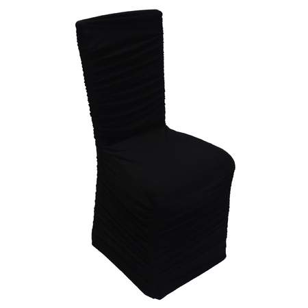 spandex chair cover rental atlanta butterfly covers ikea black rouched rentals linen