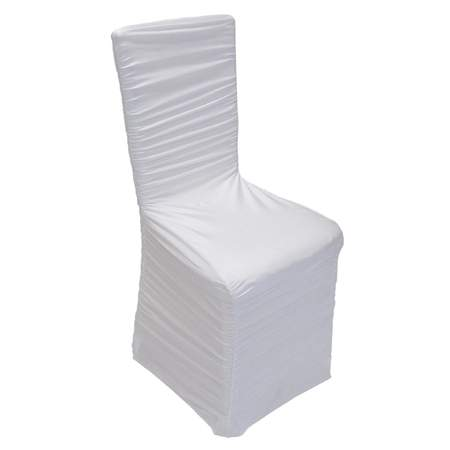 spandex chair covers for sale cheap gym instruction manual white rouched cover rentals linen