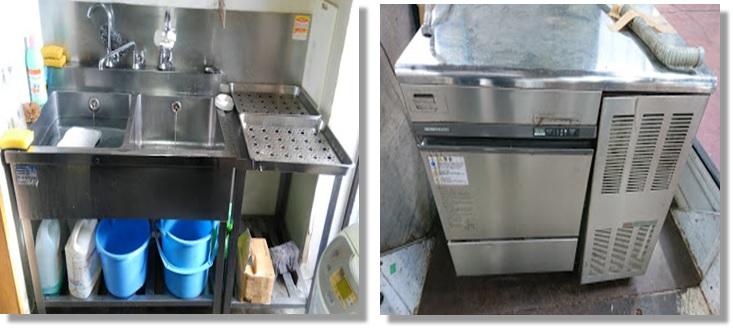 シンクと製氷機