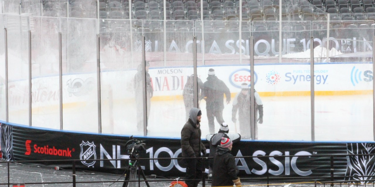 Building Ice at an Outdoor Stadium
