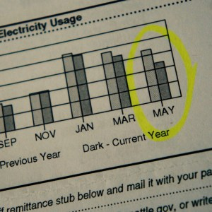 energy usage down this month!