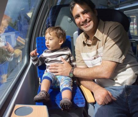 kid seat on a German train!