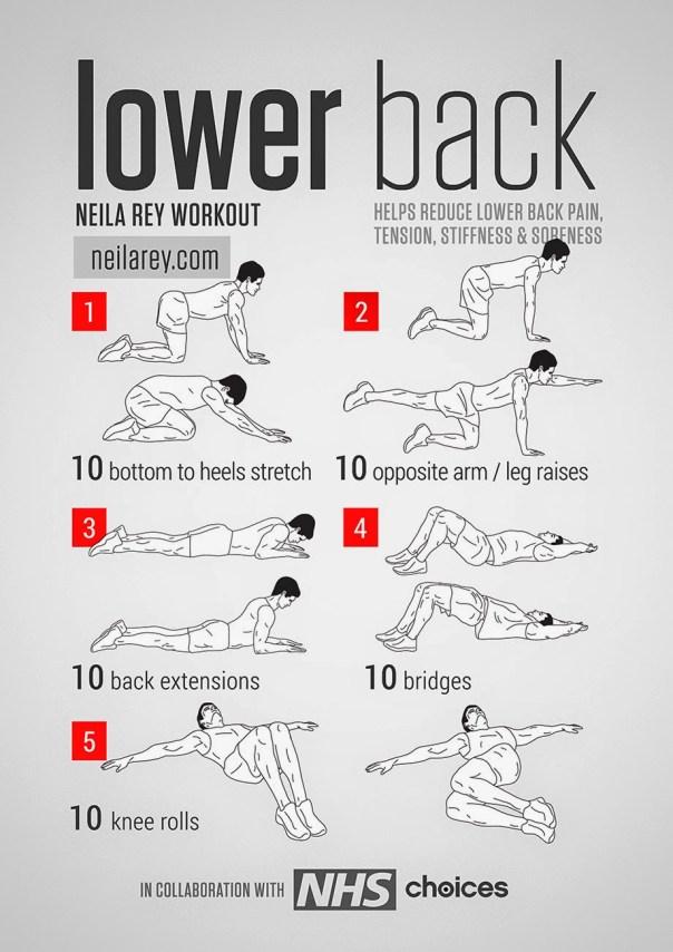 Exercícios para dores nas costas e lombalgias