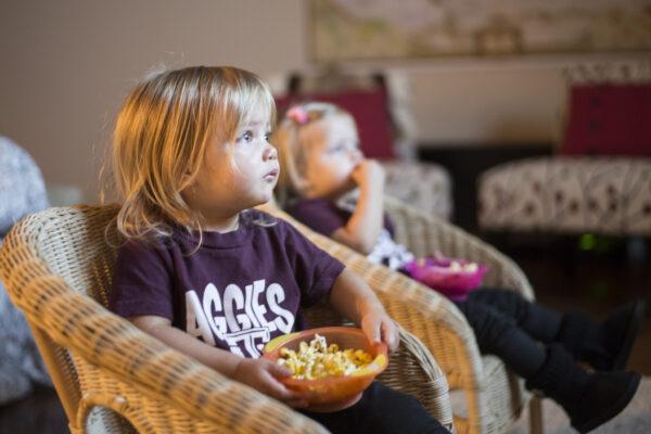 Children getting screen time