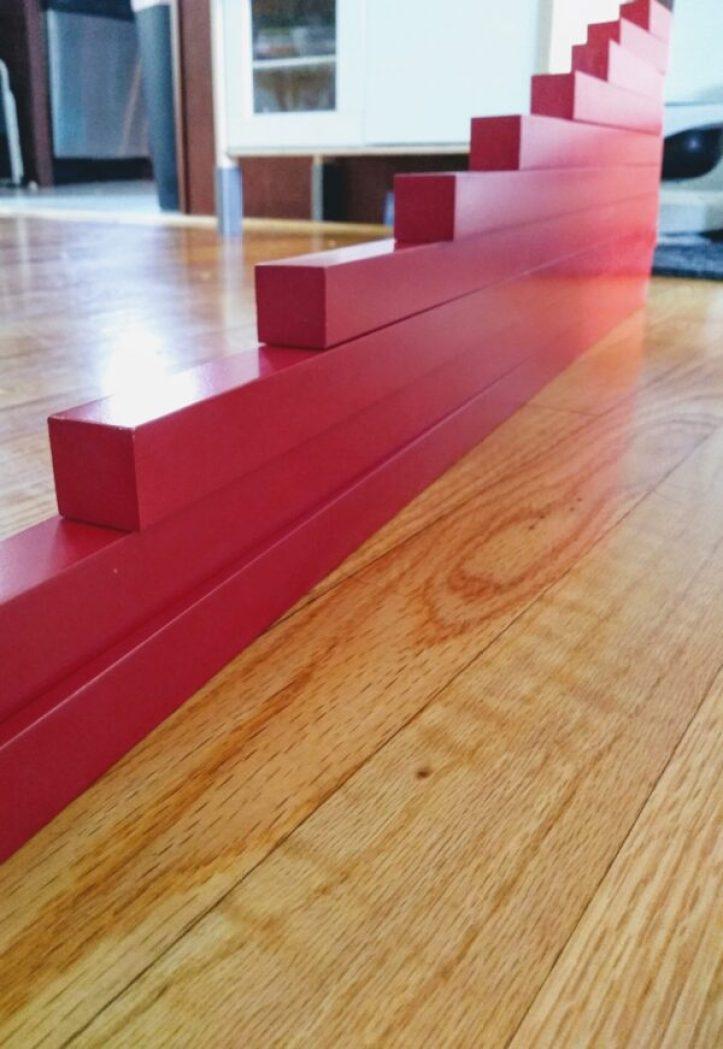 Montessori Red Rods