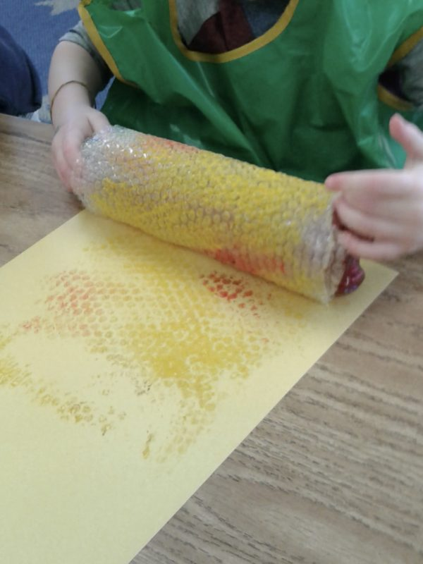 Bubble wrap process art