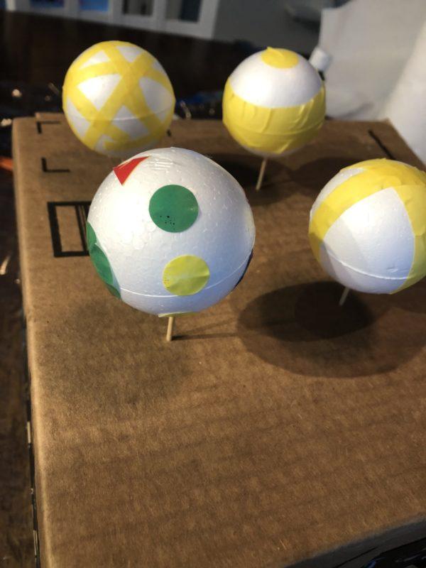 Foam balls diy mobile