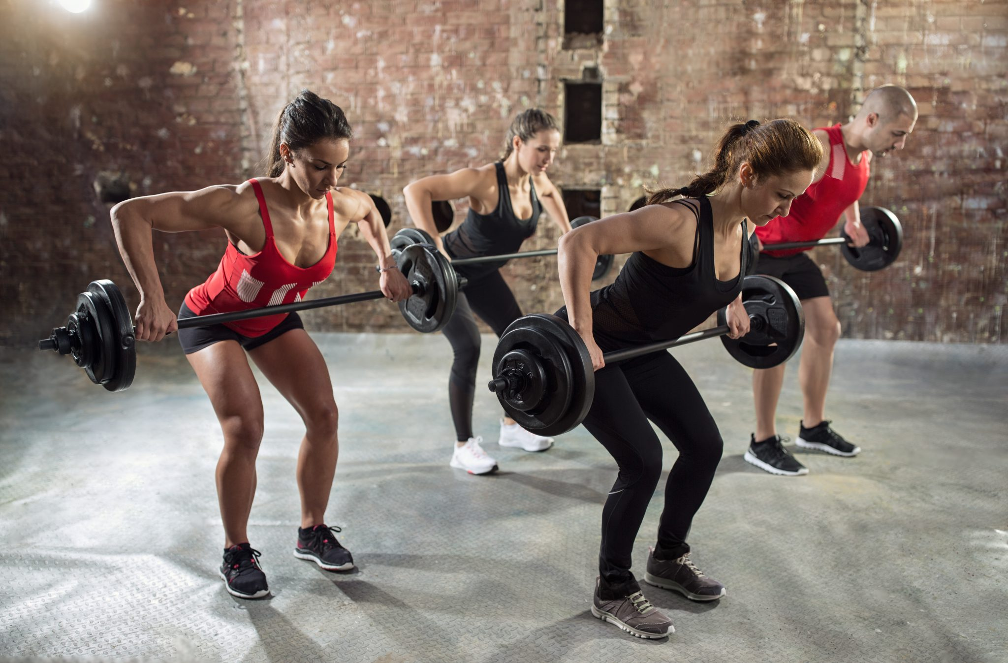 group training, strength, weights