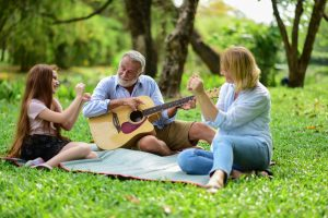 family, music, outdoors