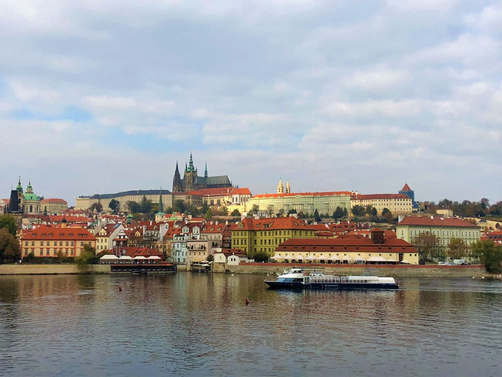 View from the Charles Bridge to the Prague Castle