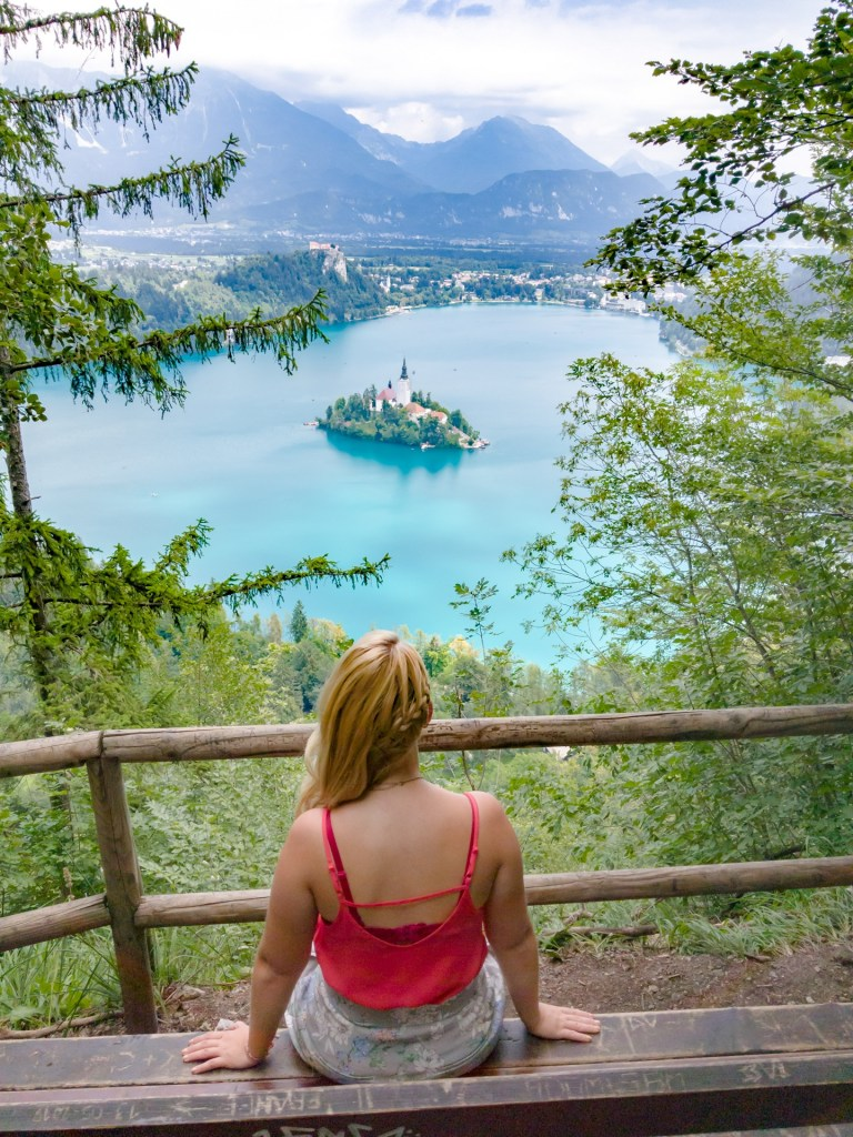 Reachinghot visiting Lake Bled in Slovenia