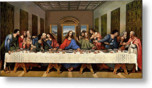Artwork: Leonardo Da Vinci's depiction of the Last Supper