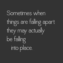 Falling into place...