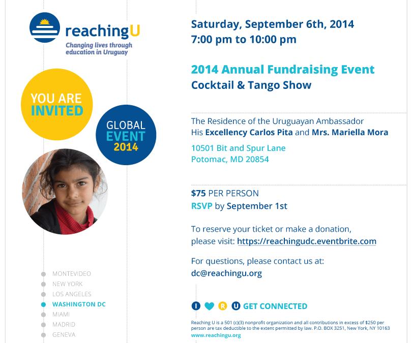 Evento Anual 2014 en Washington, DC: 6 de setiembre, 7PM