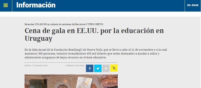 ReachingU en los medios: El País