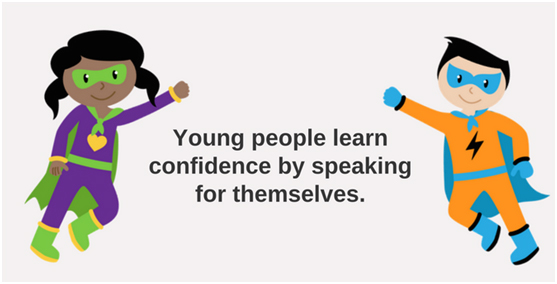 Young people learn confidence by speaking for themselves