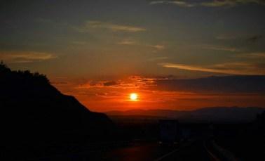 Sunset on the motorway, by Nikolett I.