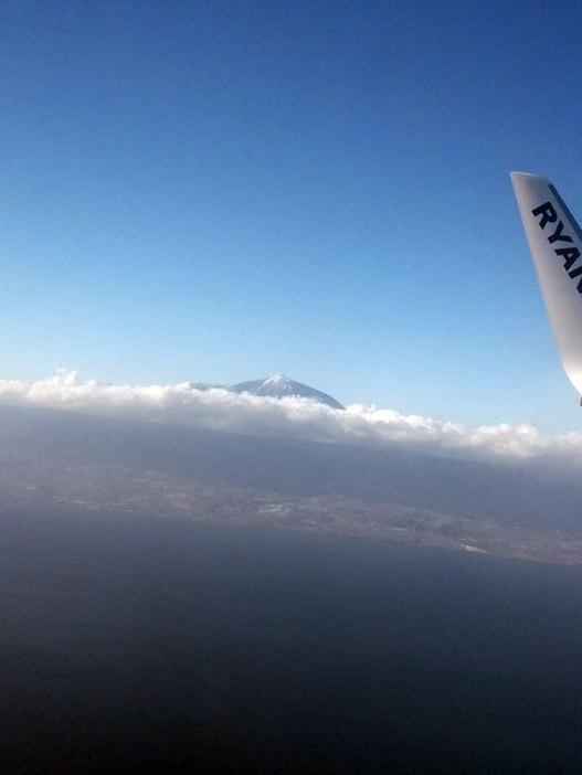 Landing in Tenerife
