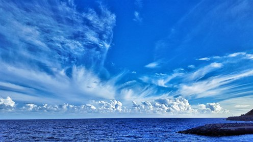 Clouds in Santa Cruz de Tenerife