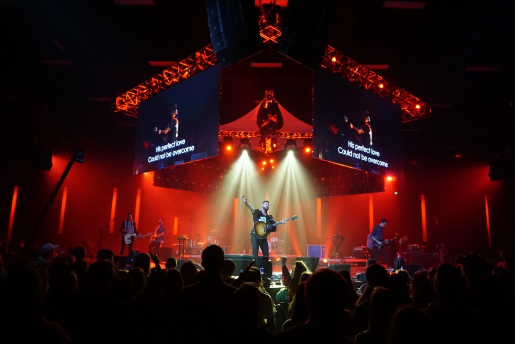 Rush of Fools leading worship for thousands of students at Strength To Stand Winter Conference in Gatlinburg, TN