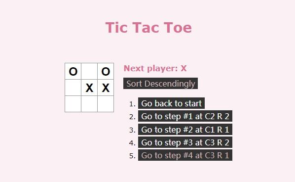 Tic-Tac-Toe built in React