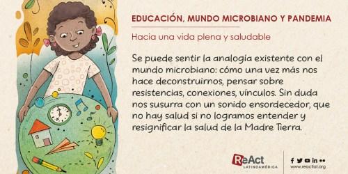 Educación, mundo microbiano y pandemia