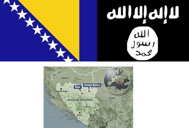 Bosnie en vlaggen Bosnië - IS