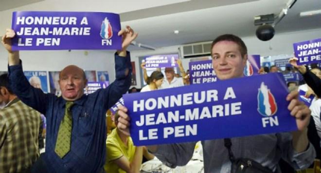 Jean-Marie Le Pen had zich zijn politieke 'fin de carrière' wellicht anders voorgesteld, en wij met hem!