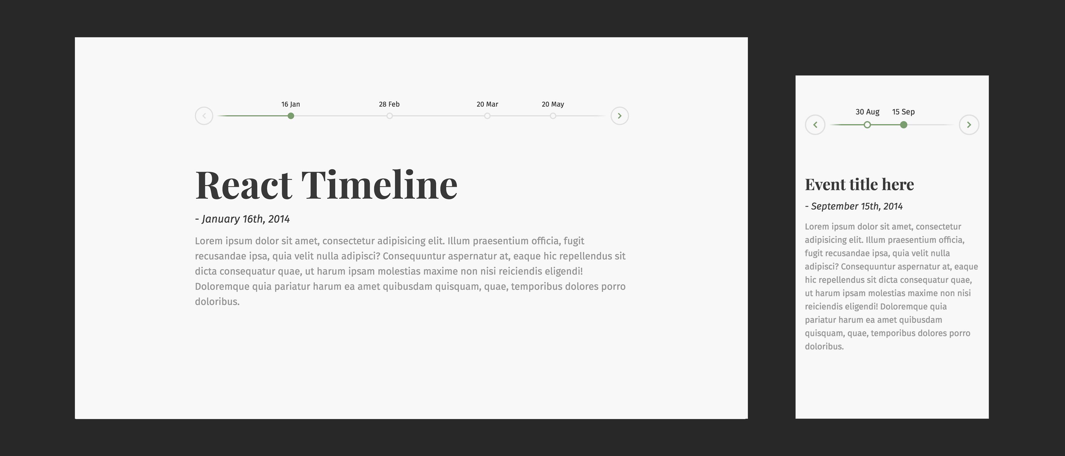 Beautiful React Horizontal Timeline | Reactscript