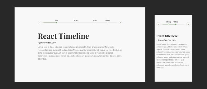 Beautiful React Horizontal Timeline