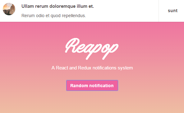 A React & Redux Notifications System - Reapop