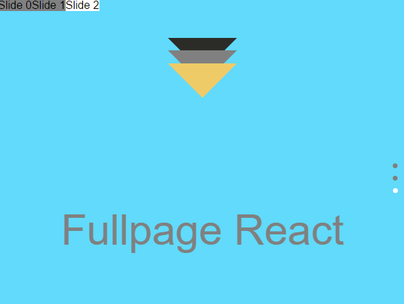Full Page Scrolling Component For React | Reactscript