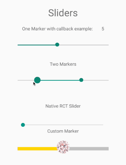 React Native Multi Slider Component | Reactscript