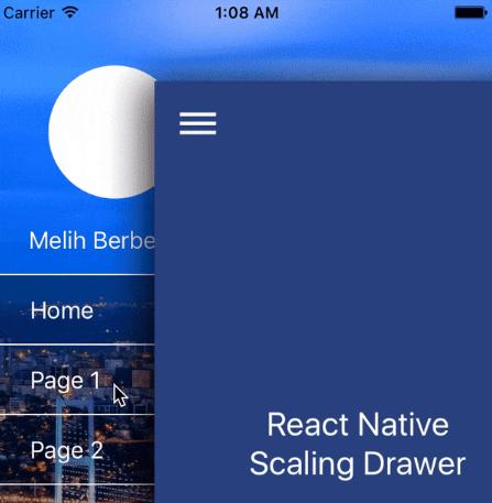 React Native Scaling Drawer | Reactscript