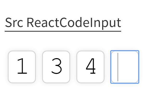 React Code Input Component | Reactscript