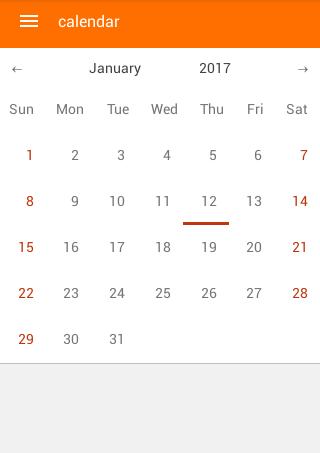 react-native-calendar