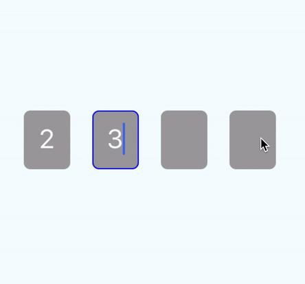 RN otp-inputs