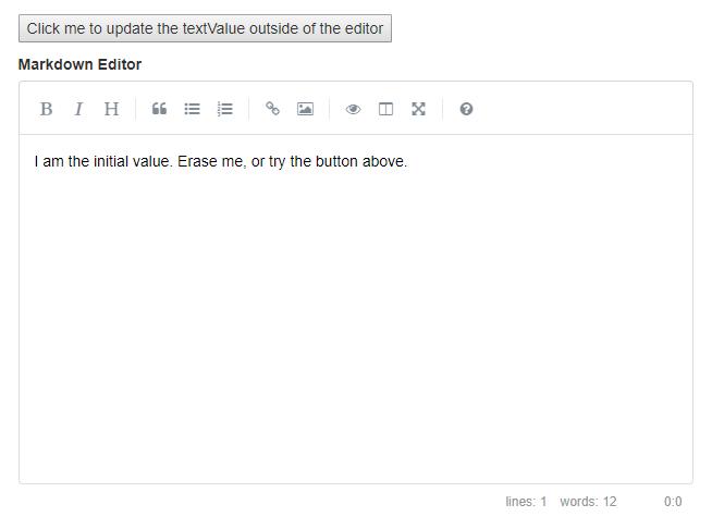 Simplemde Markdown Editor For React