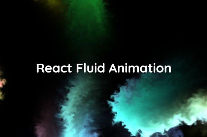 WebGL Based Fluid Animation For React