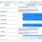 Messenger Style Chat UX Components – react-messenger