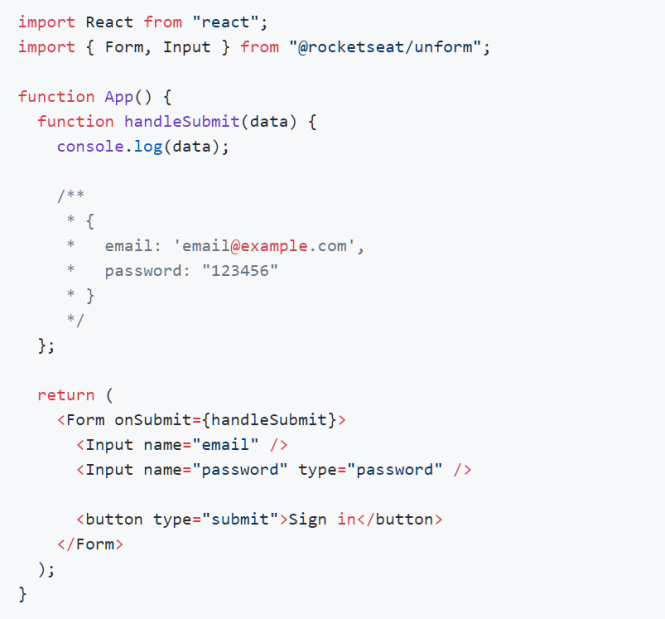 Performant React Form Library - unform