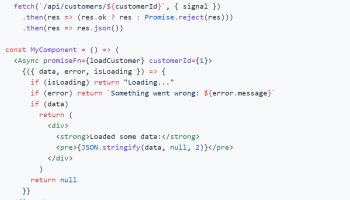 Promise-based React Data Loader - react-async | Reactscript