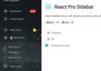 Customizable Mobile-friendly Side Menu - React Pro Sidebar