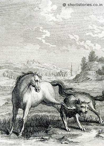 horse-wolf-jean-del-la-fontaine-fables-shortstoriescoin-image
